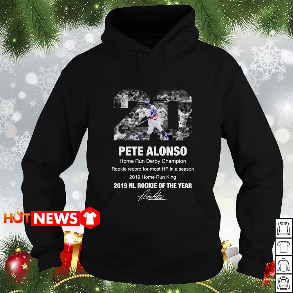 20 Pete Alonso New York Mets 2019 NL rookie of the year signature Hoodie