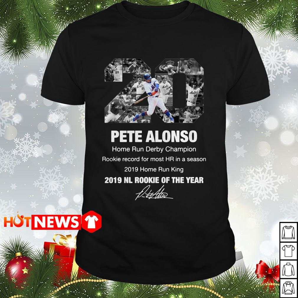 20 Pete Alonso New York Mets 2019 NL rookie of the year signature shirt