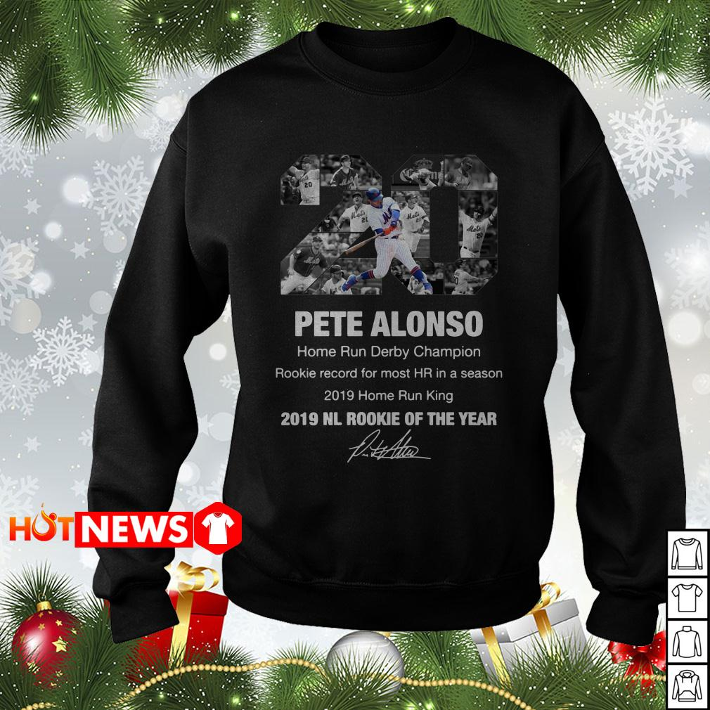 20 Pete Alonso New York Mets 2019 NL rookie of the year signature Sweater