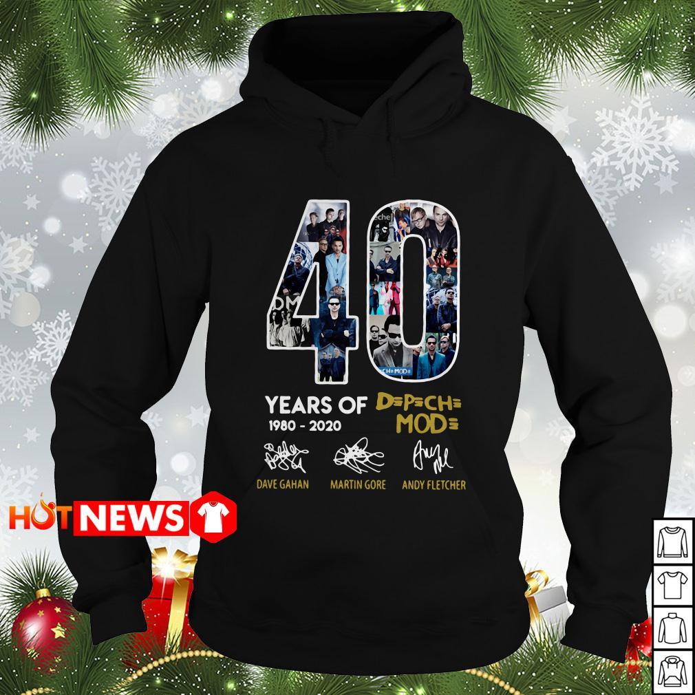 40 Years of Depeche Mode 1980-2020 signature Hoodie