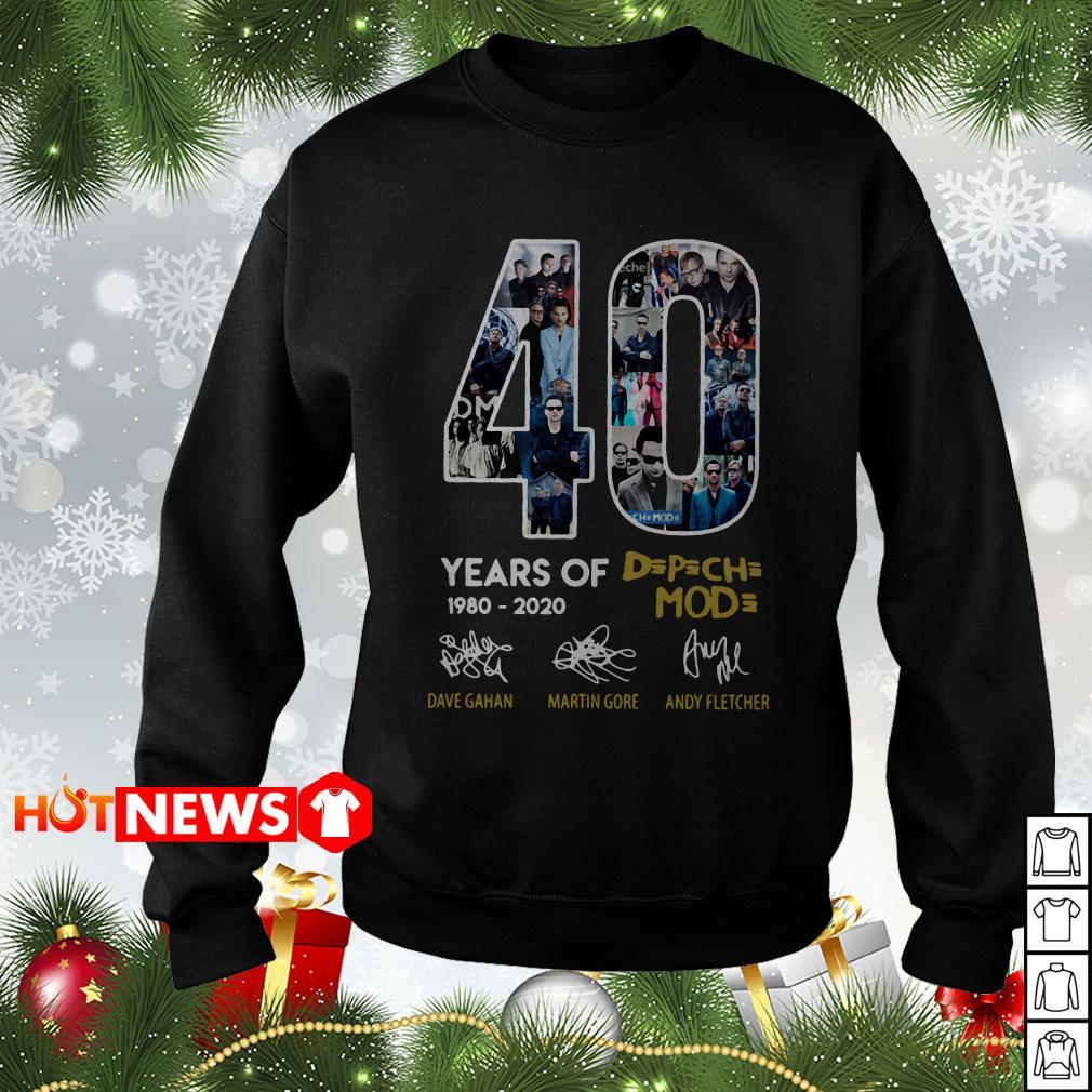 40 Years of Depeche Mode 1980-2020 signature Sweater