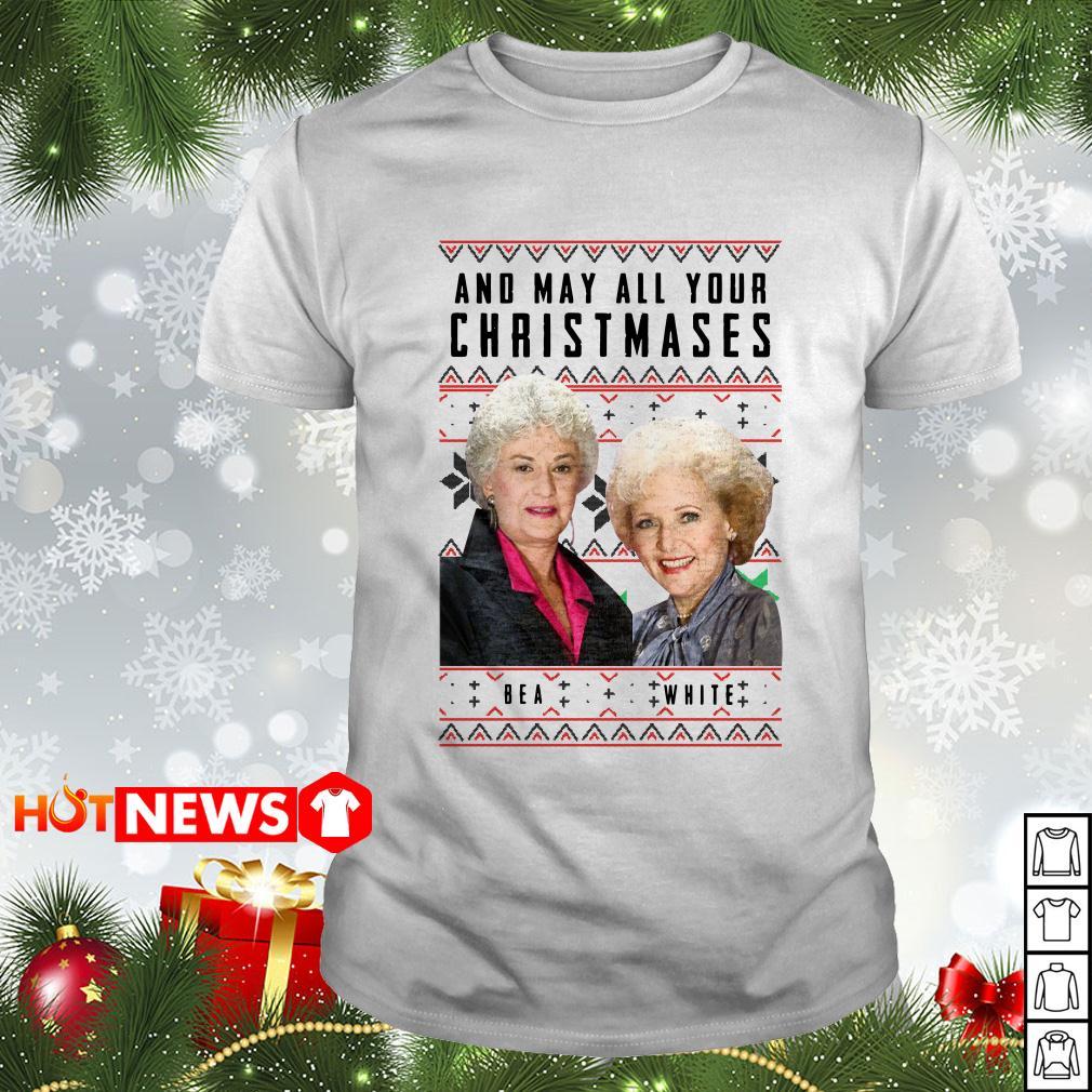 And May all Your Christmas Bea White Ugly Christmas Guys shirt