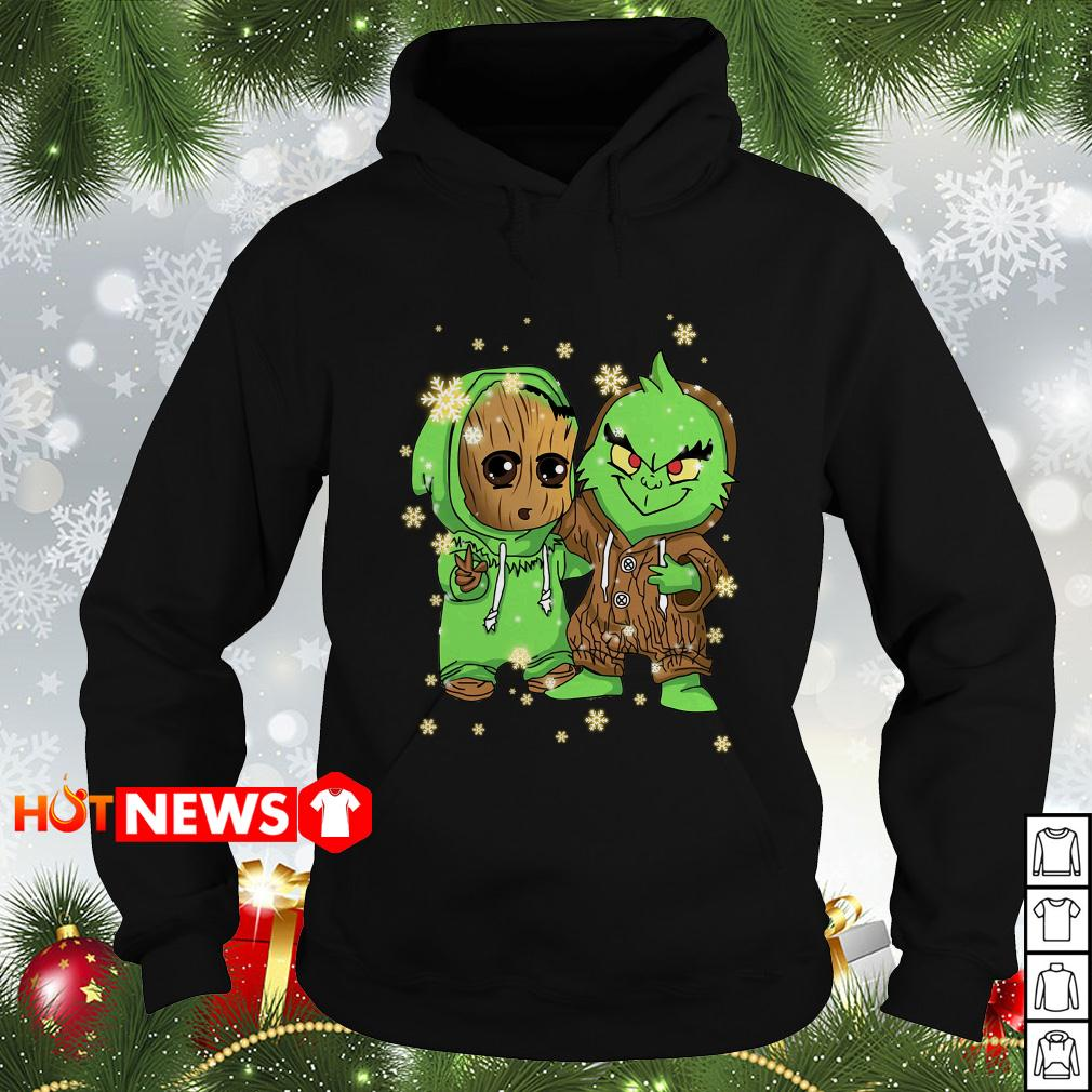 Baby Groot and Grinch Christmas Hoodie