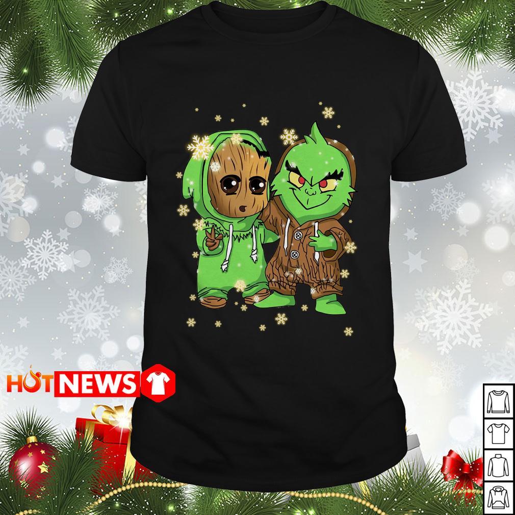 Baby Groot and Grinch Christmas Guys shirt