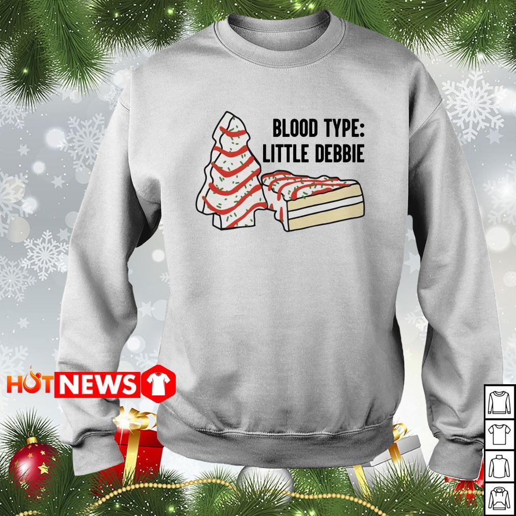 Blood type little Debbie Christmas sweater