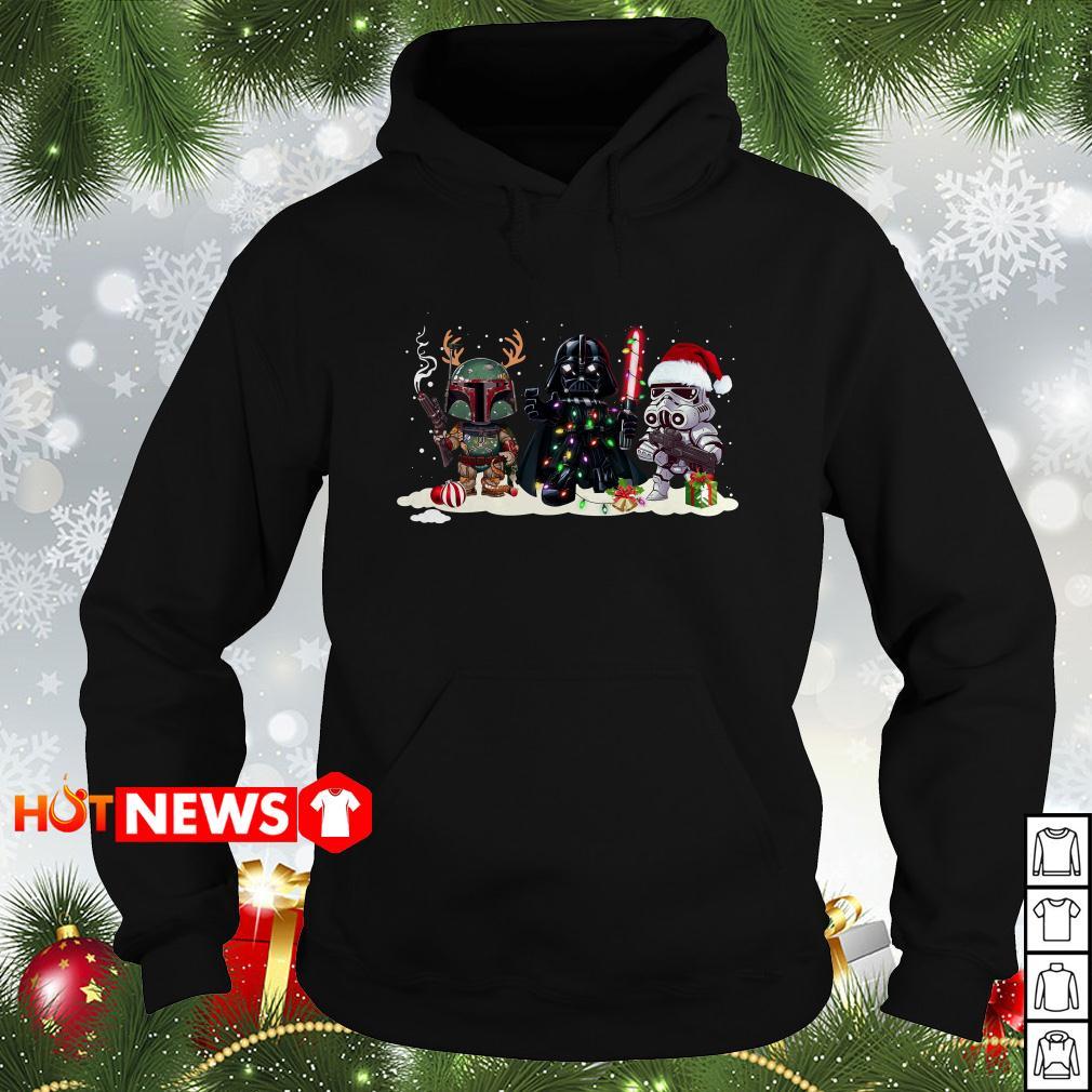 Boba Fett Darth Vader and Stormtrooper Christmas Hoodie
