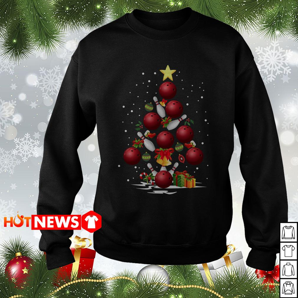 Bowling Christmas tree sweater
