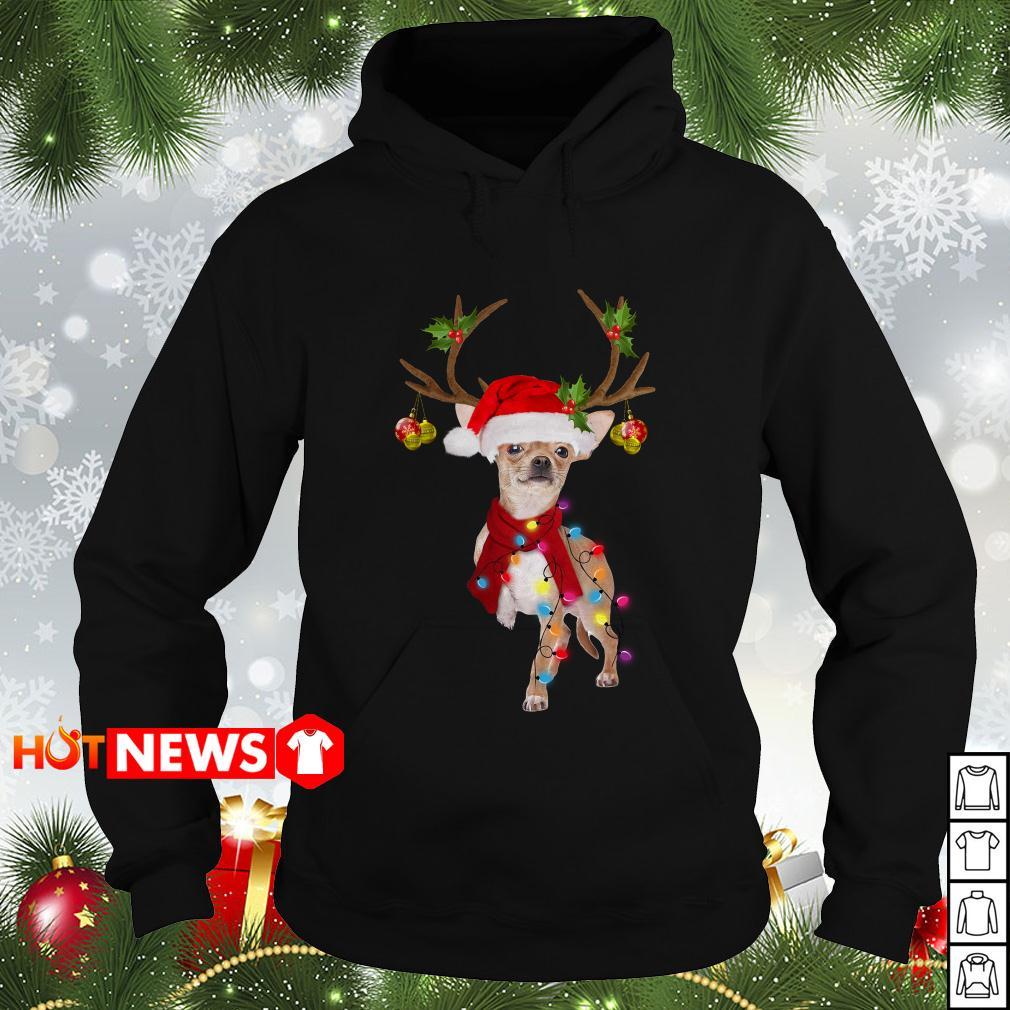 Chihuahua gorgeous reindeer Christmas Hoodie