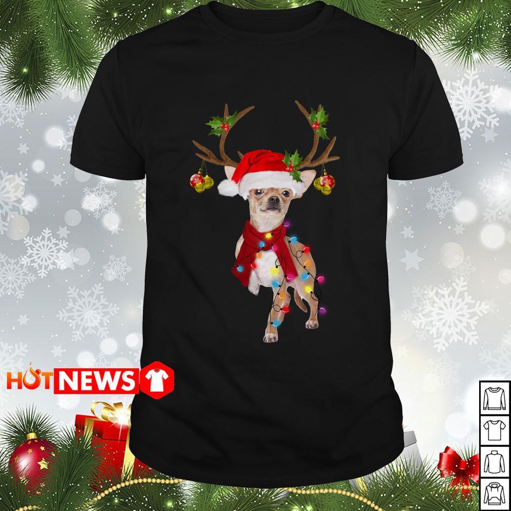 Chihuahua gorgeous reindeer Christmas Guys shirt