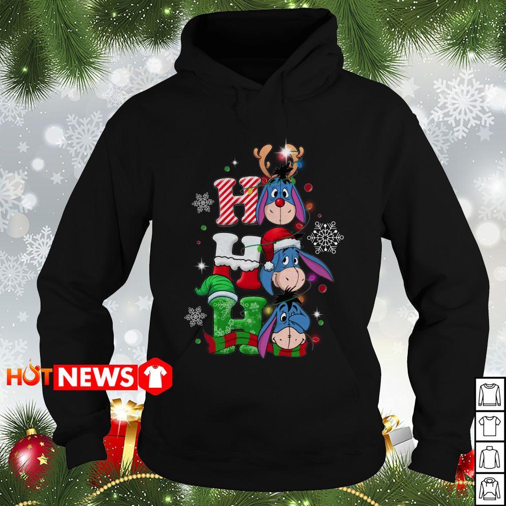 Christmas Ho Ho Ho Santa Reindeer and Eeyore Hoodie