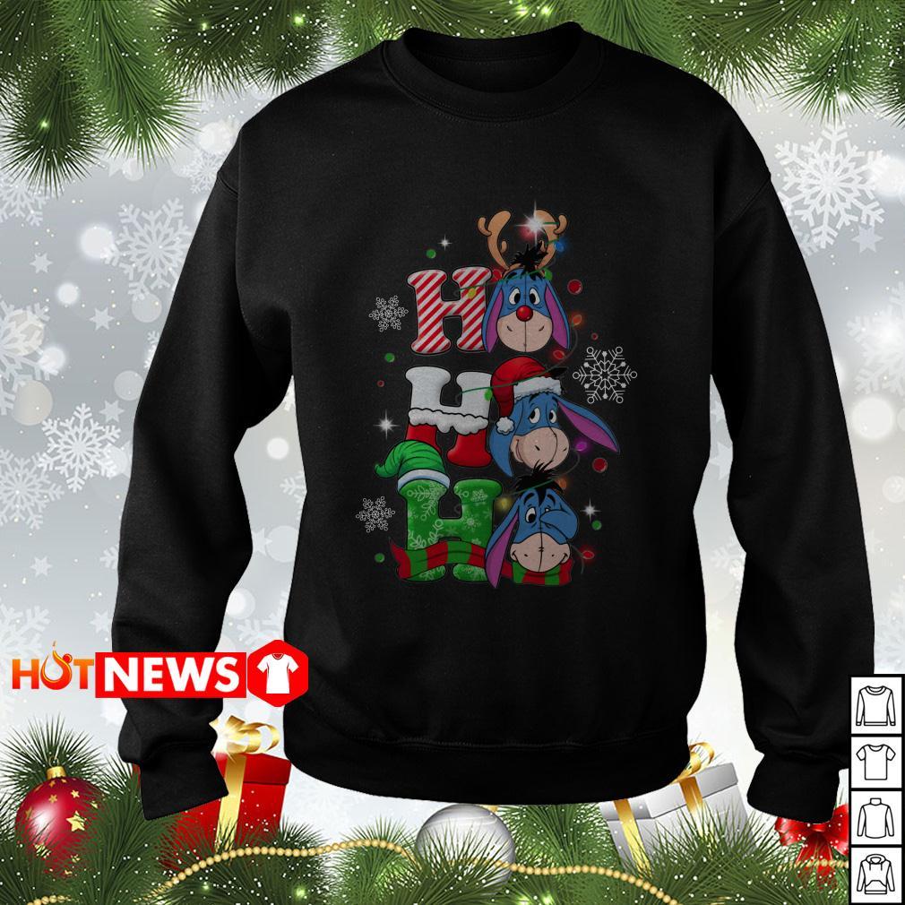 Christmas Ho Ho Ho Santa Reindeer and Eeyore sweater, shirt