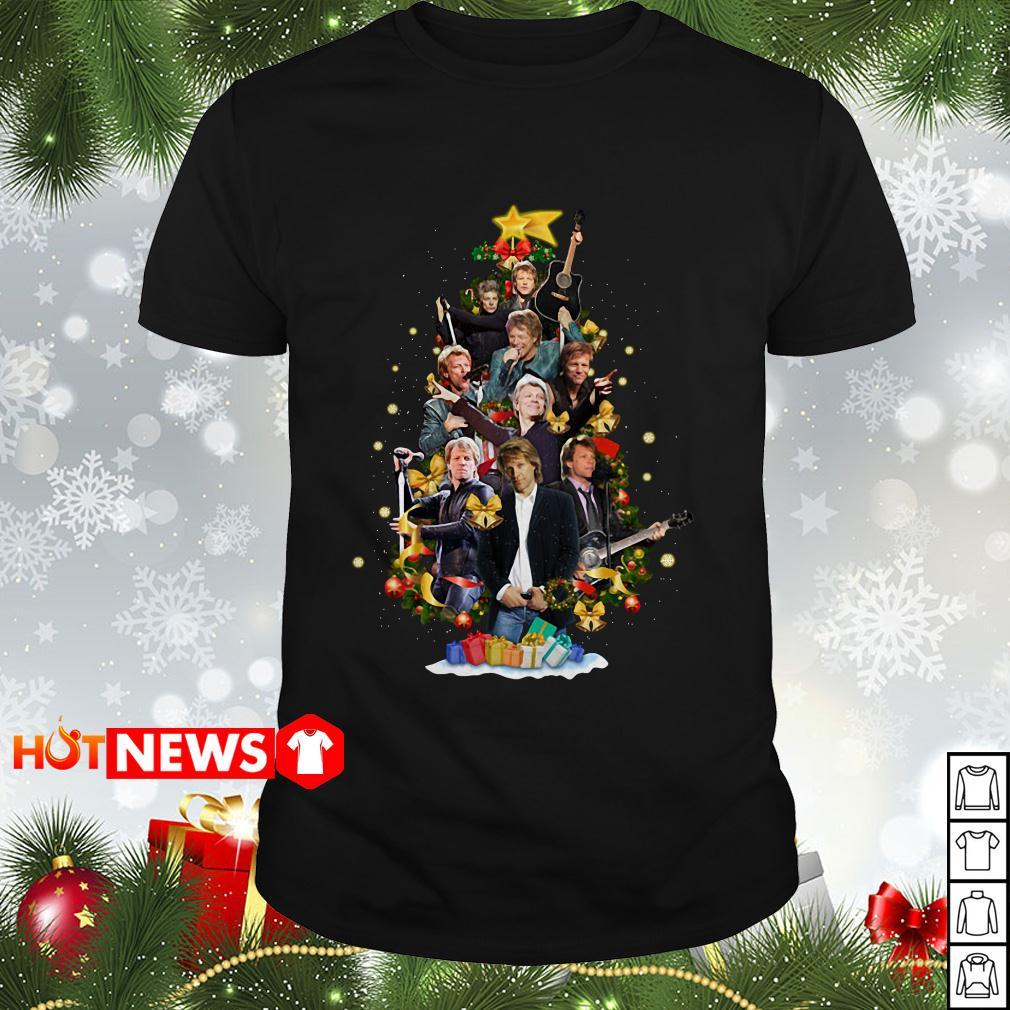 Christmas Jon Bon Jovi Christmas tree Guys shirt