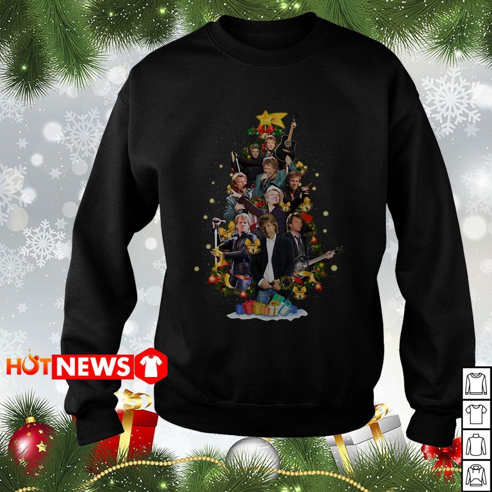Christmas Jon Bon Jovi Christmas tree sweater