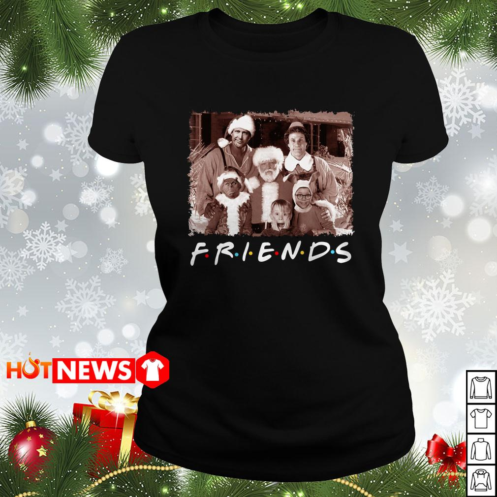 Christmas Movies Friends TV Show Ladies tee