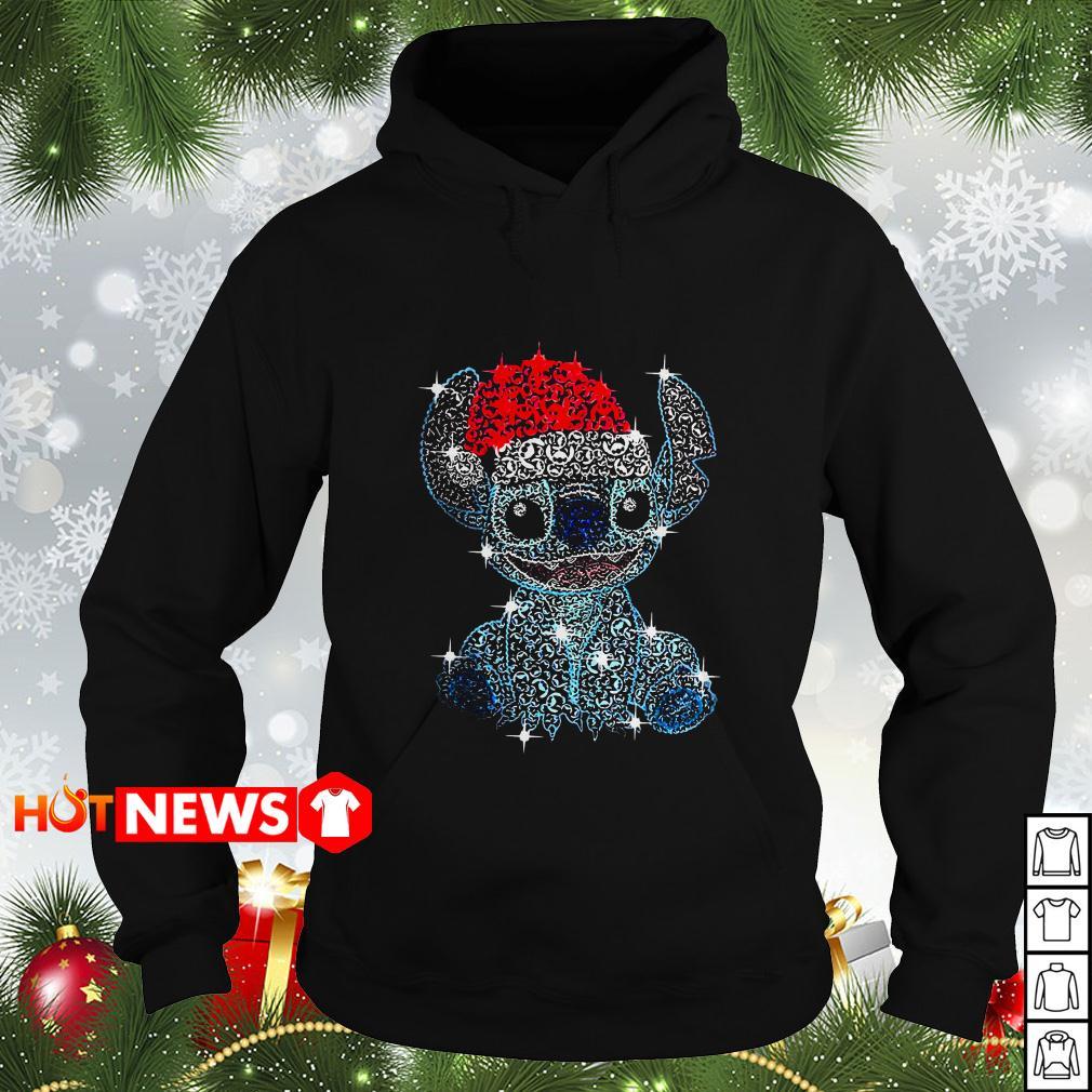 Christmas Stitch rhinestone Santa hat Hoodie