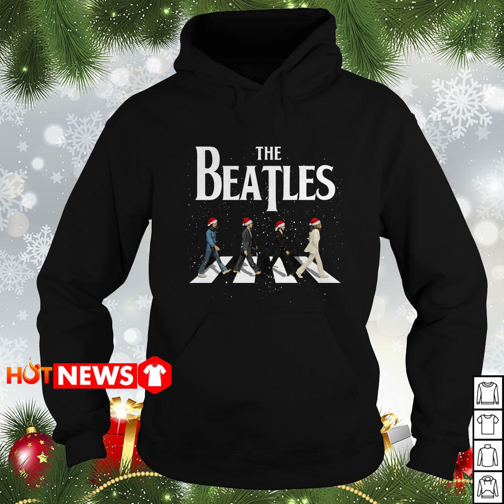 Christmas The Beatles Abbey Road ugly sweater, Hoodie