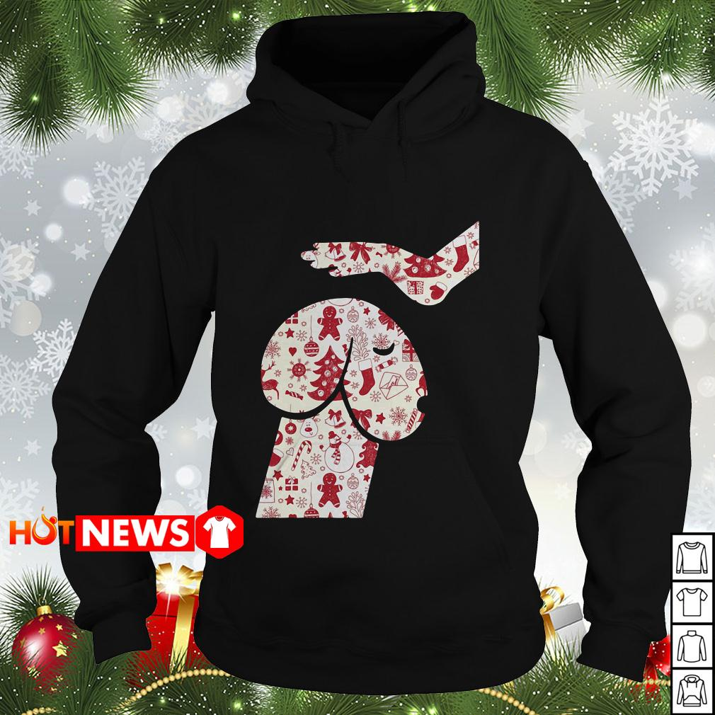 Cool Hand Touch Head Dickhead dog Christmas Hoodie
