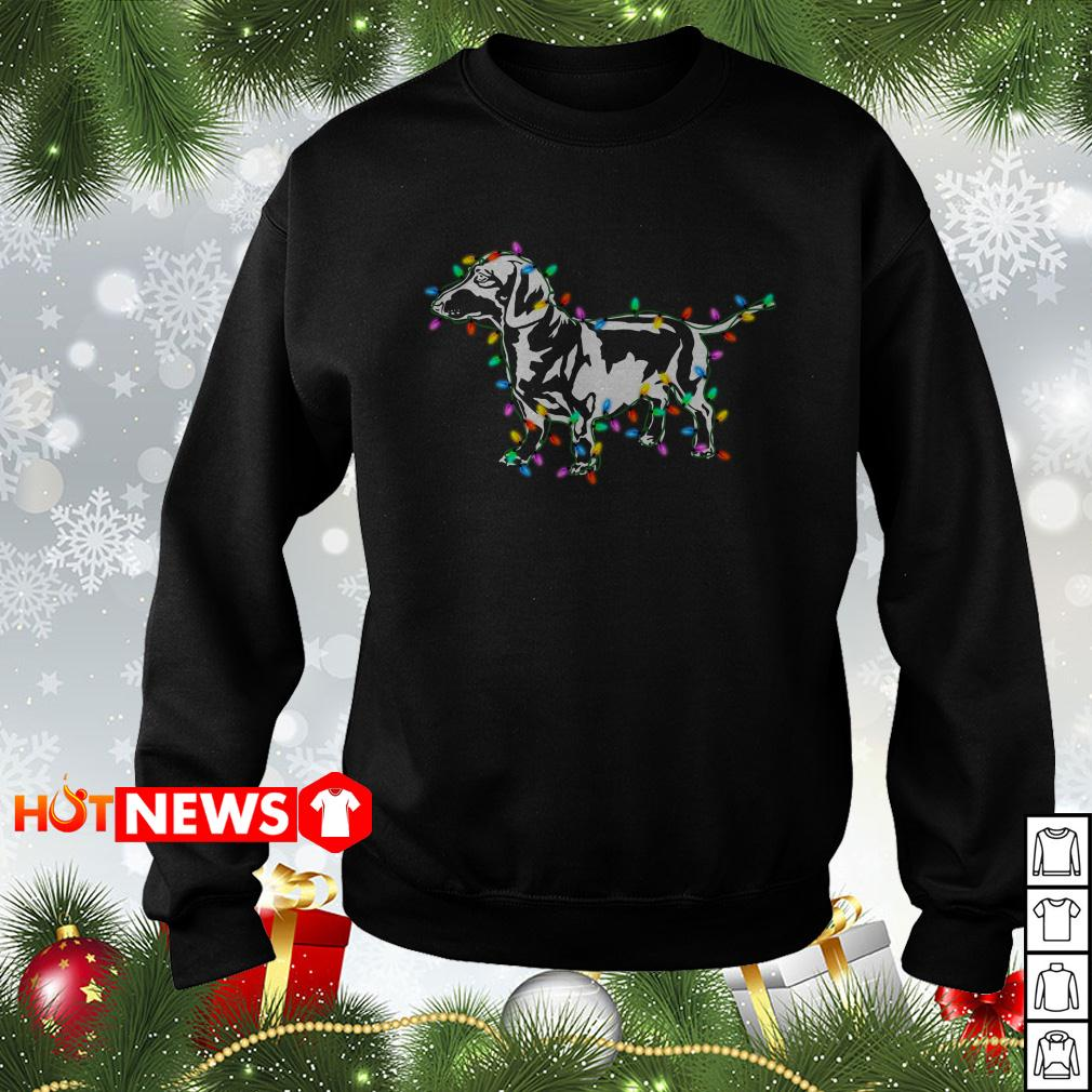 Dachshund Christmas lights sweater