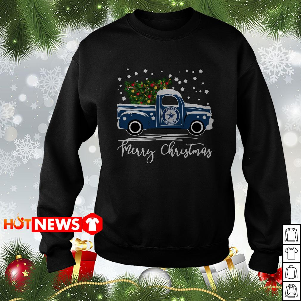 Dallas Cowboys pickup truck Merry Christmas sweater