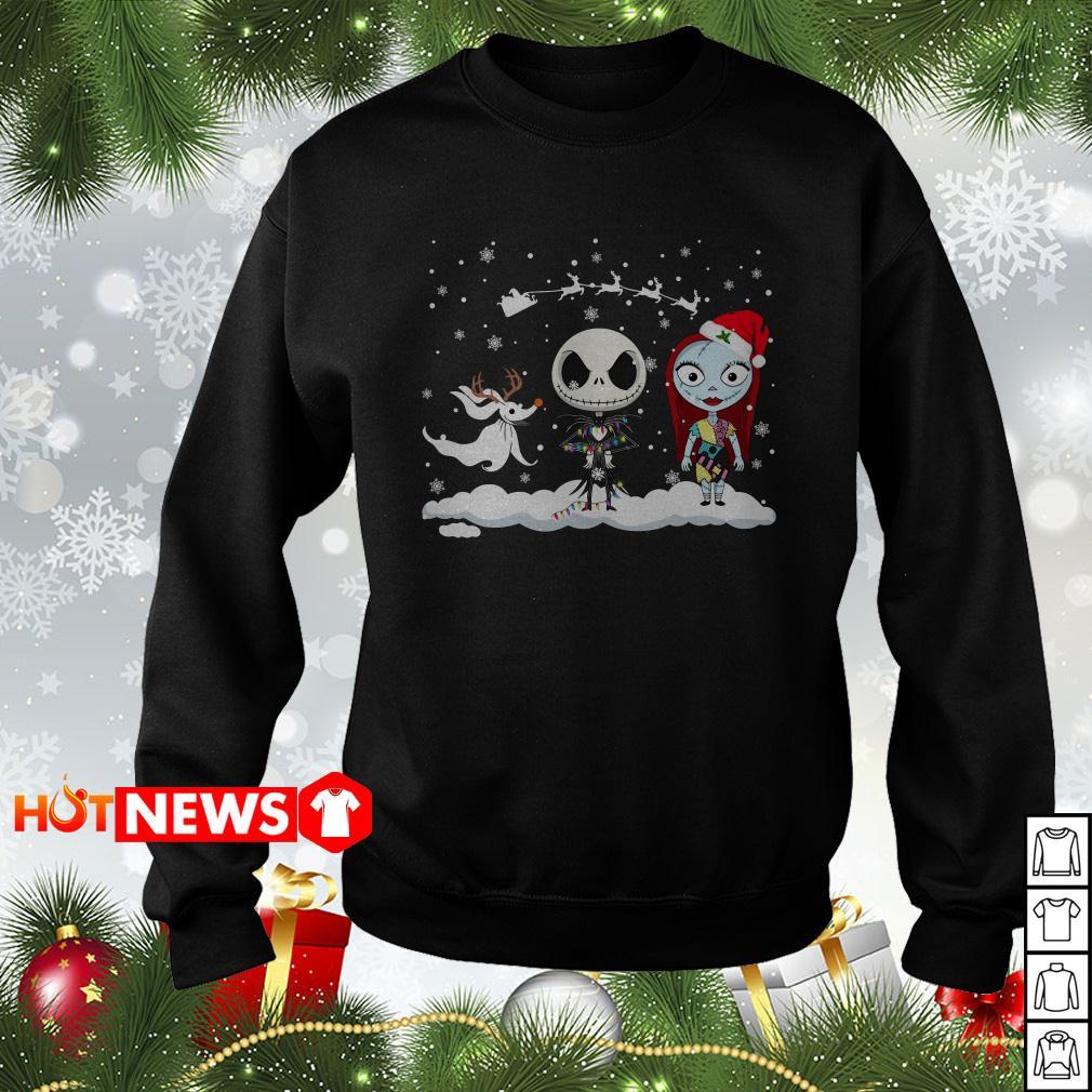 Funny Jack Skellington Sally friends Christmas sweater