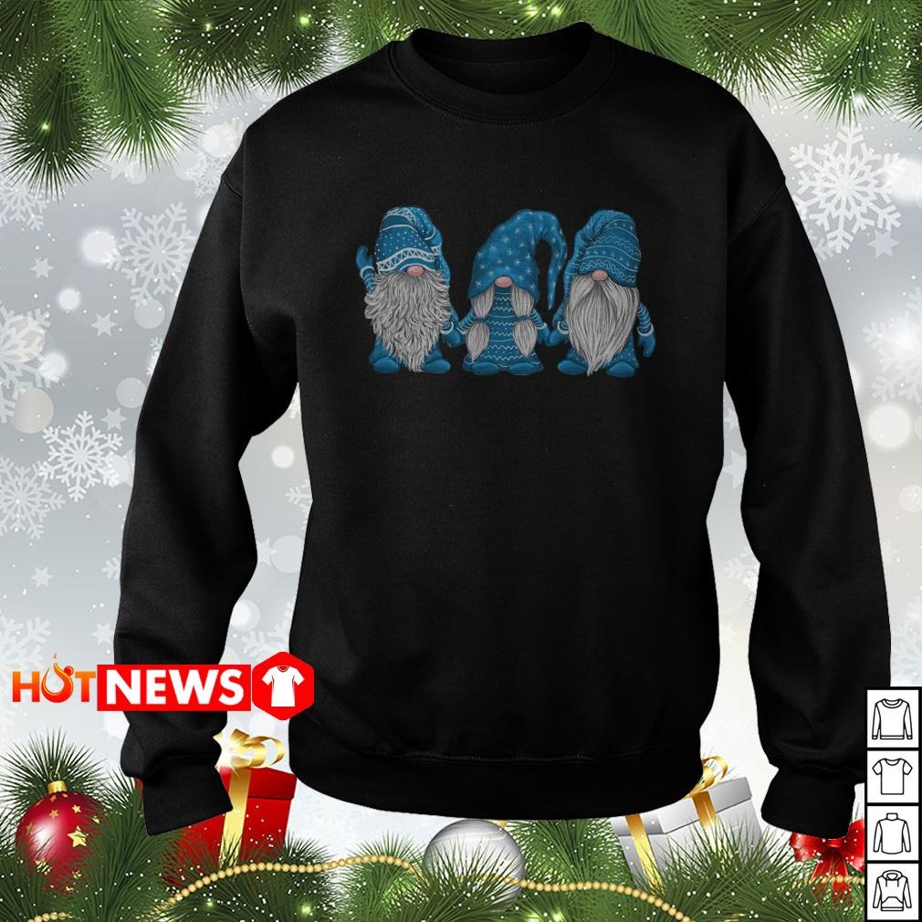 Hanging with blue Gnomies Christmas sweater