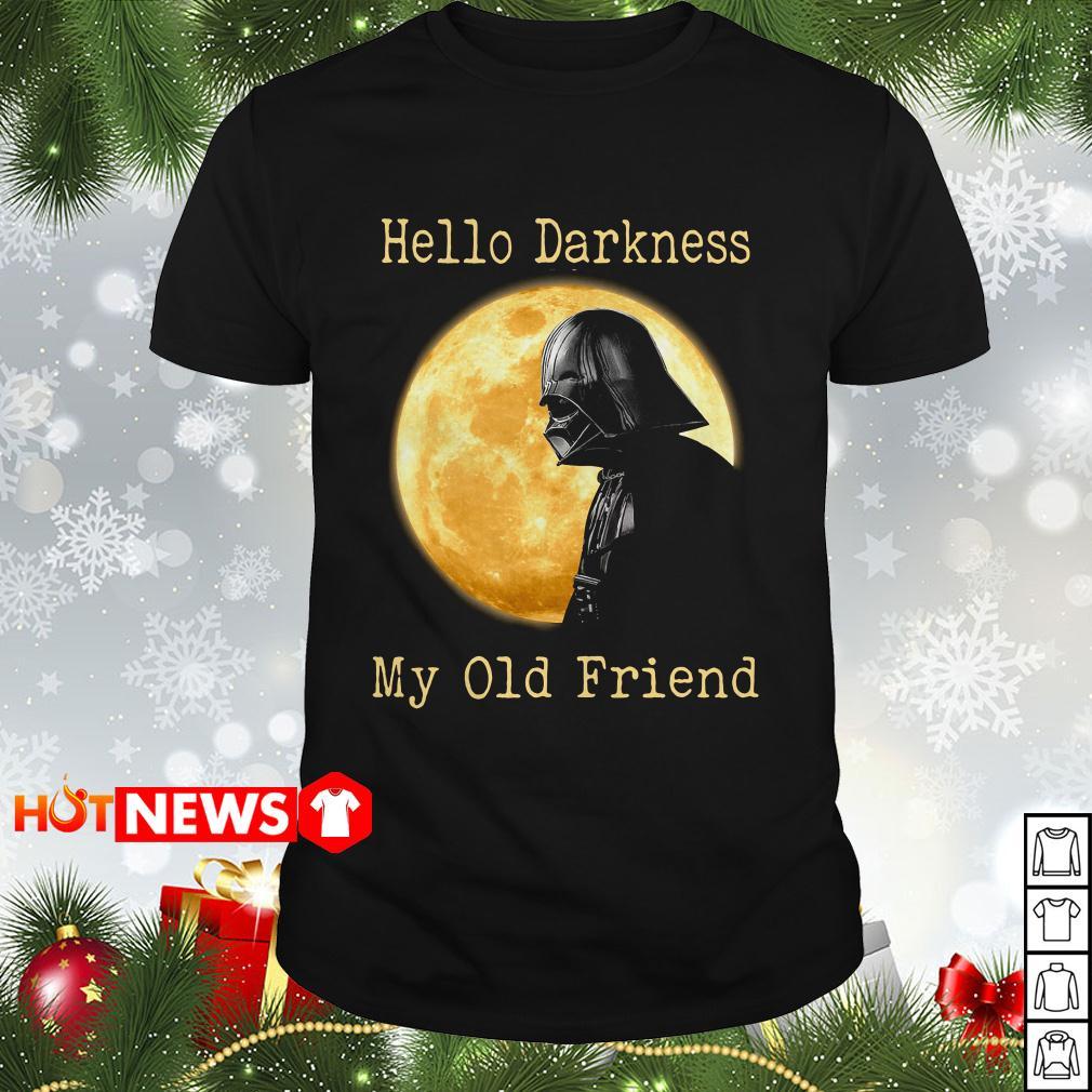 Hello Darkness My Old Friend Darth Vader Moon Shirt