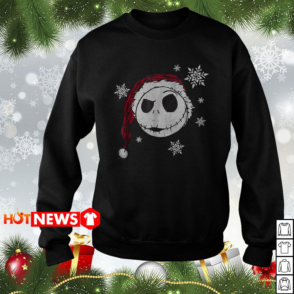 Jack Skellington face Santa Christmas sweater