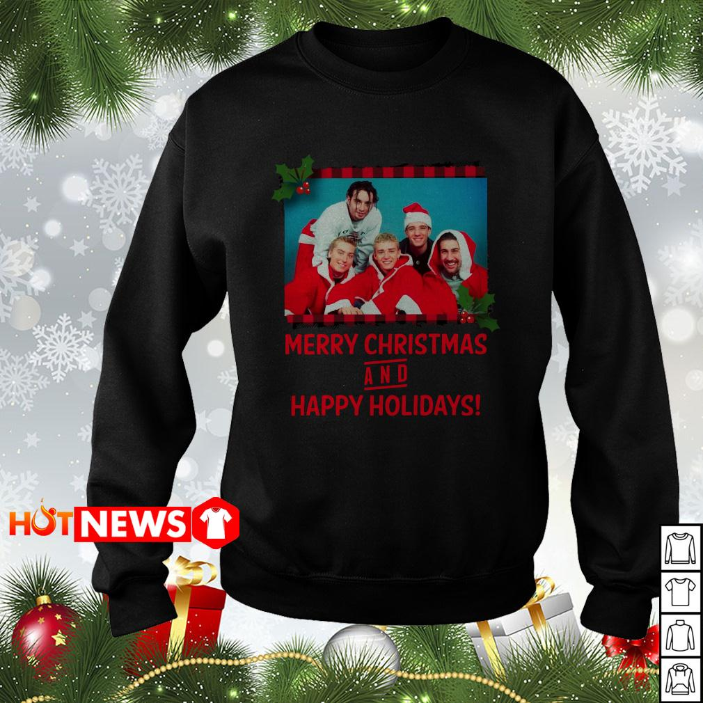 NSYNC Merry Christmas and Happy Holidays sweater
