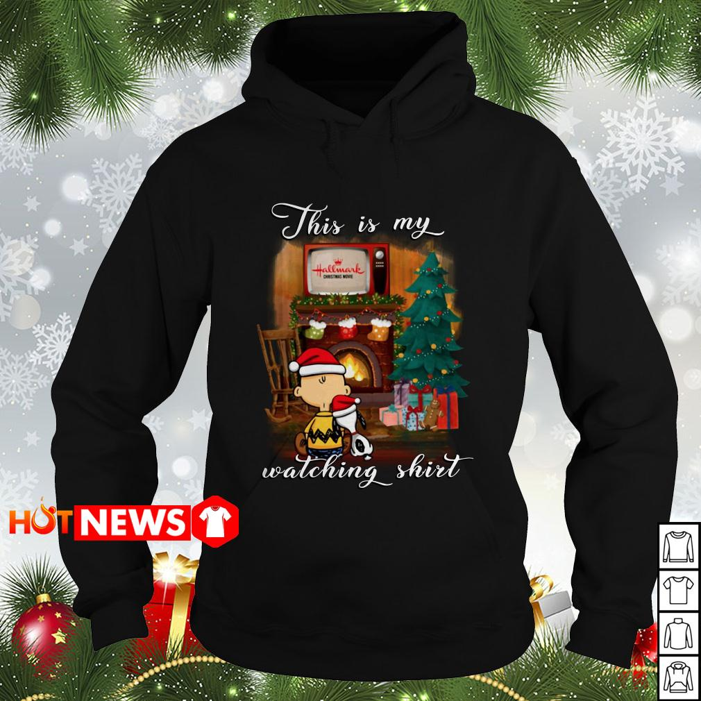 Snoopy and Charlie Brown this is my Hallmark Christmas movies watching Hoodie