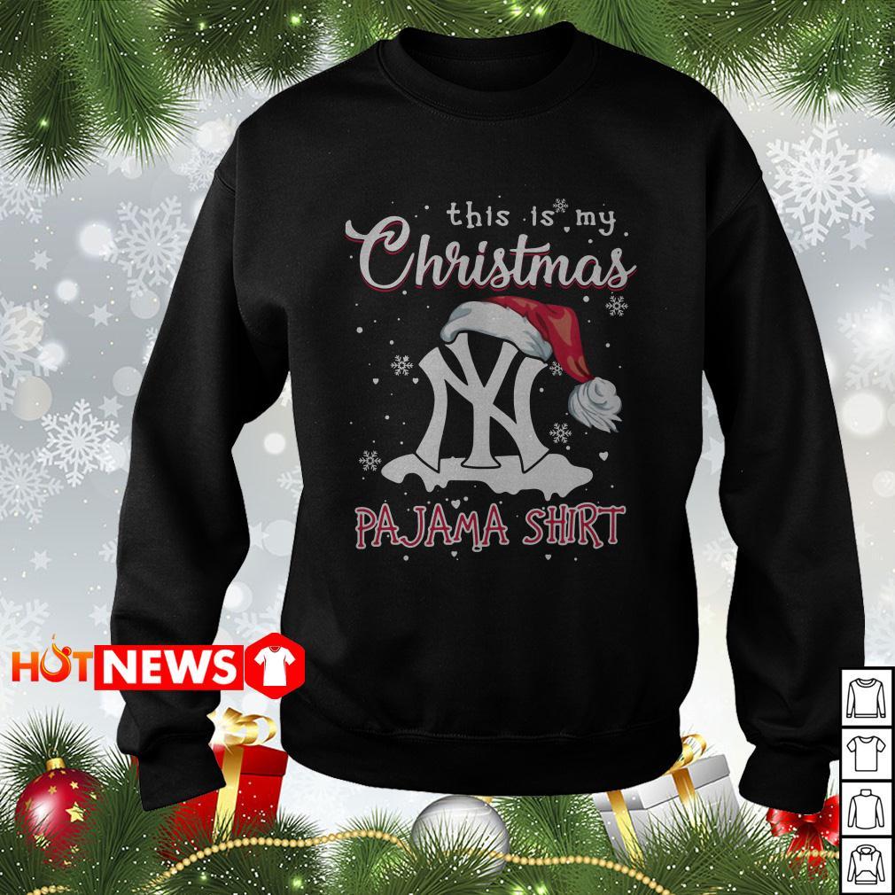 This is my Christmas Pajama New York sweater