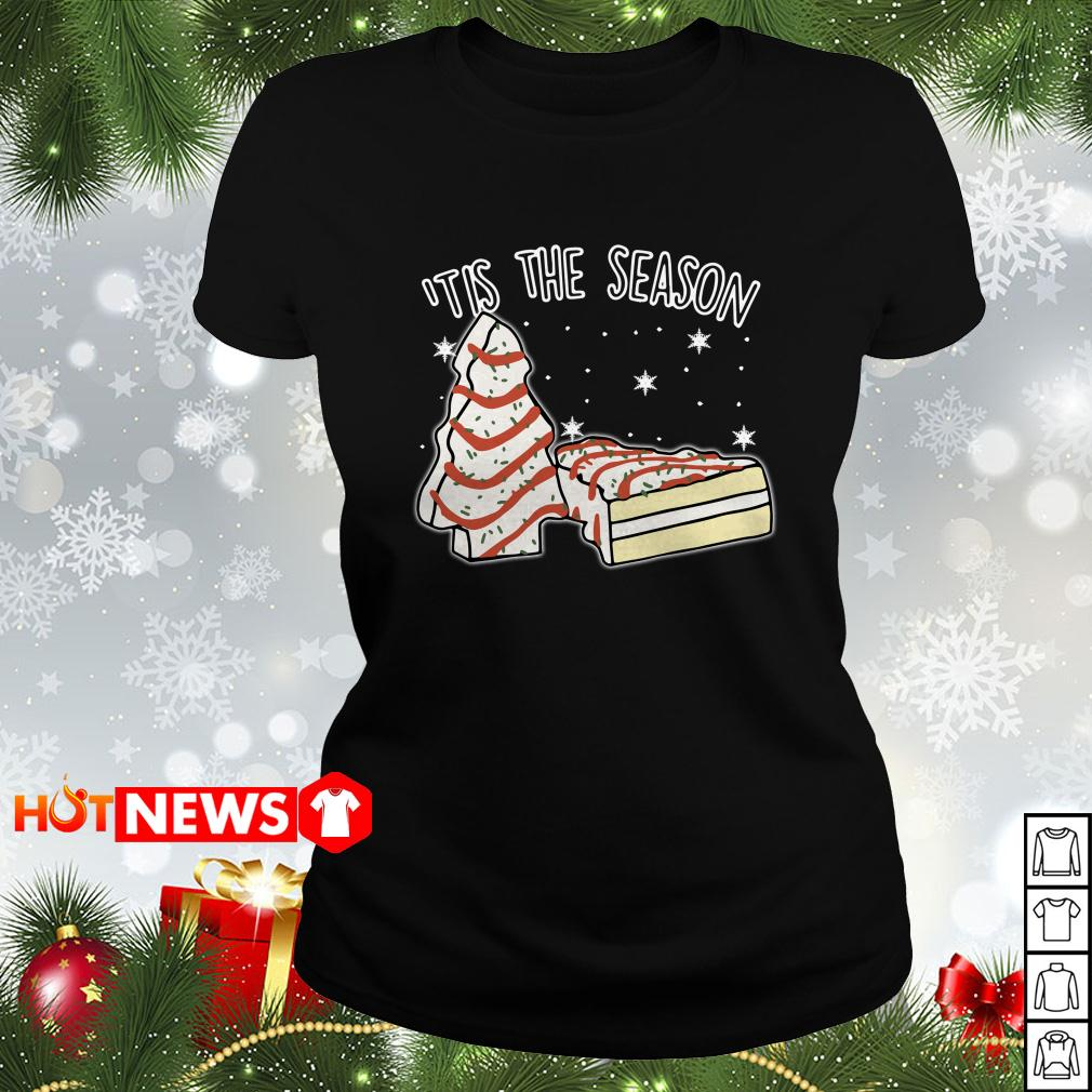 'tis The Season little Debbie Inspired Christmas Ladies tee