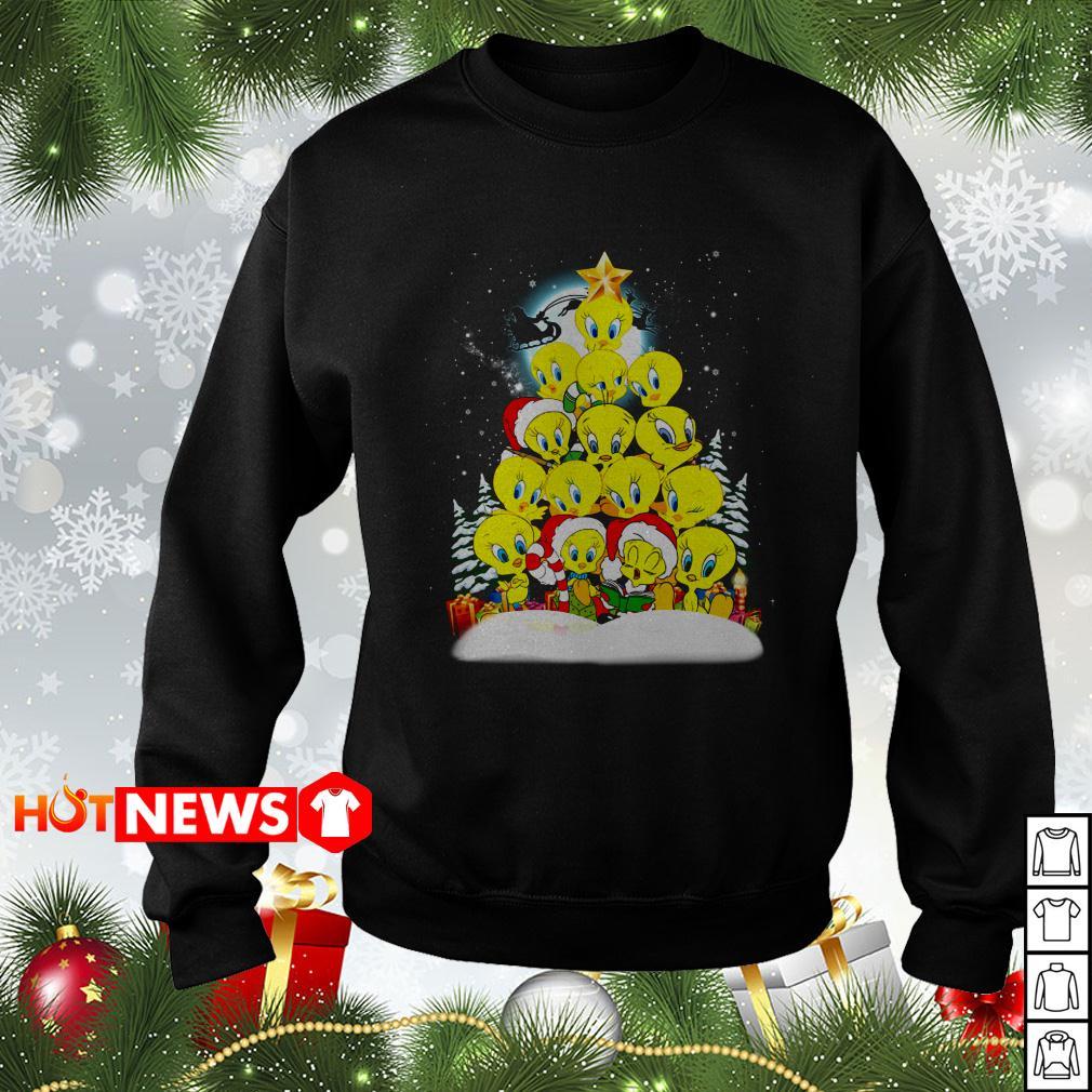 Tweety Santa Christmas tree sweater