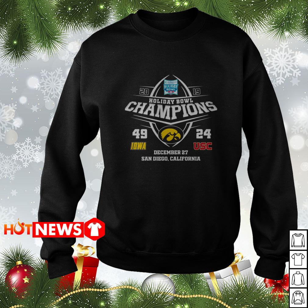 2019 Holiday Bowl Champions 49 IOWA 24 USC Sweater