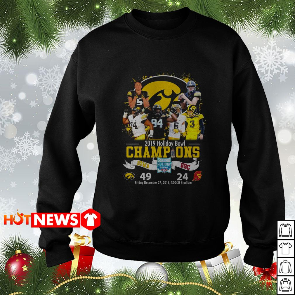 2019 Holiday Bowl Champions IOWA USC 49 24 Sweater