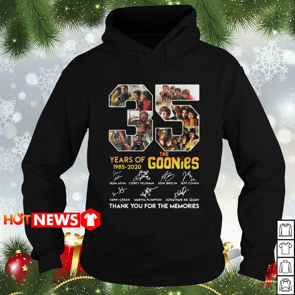 35 the Goonies years of 1985 2020 signature Hoodie