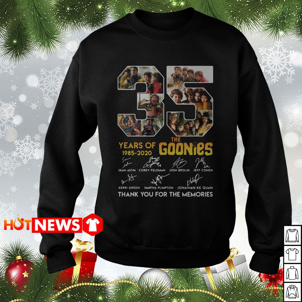 35 the Goonies years of 1985 2020 signature Sweater