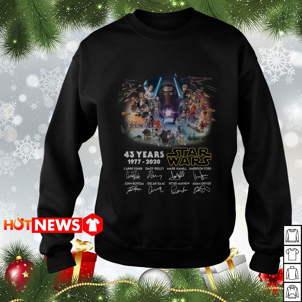 43 years Star Wars 1977-2020 signatures Sweater