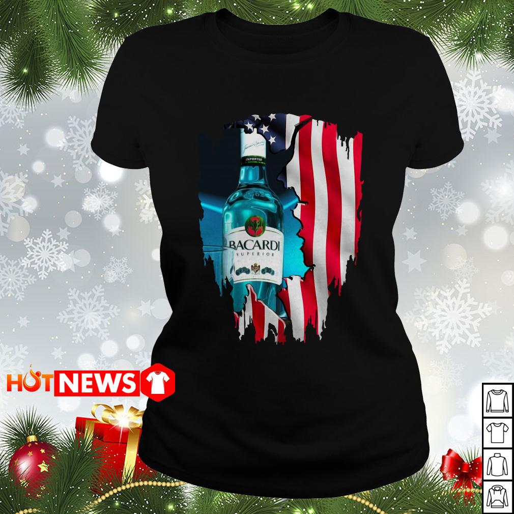 4th Of July independence day Bacardi Superior Wine Ladies tee