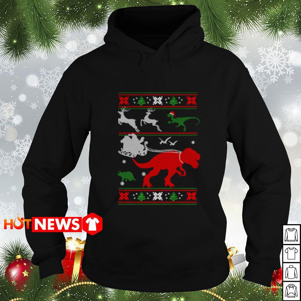 T-Rex reindeer Christmas Hoodie