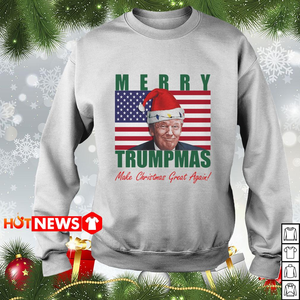 American flag Merry Trumpmas make Christmas great again sweater