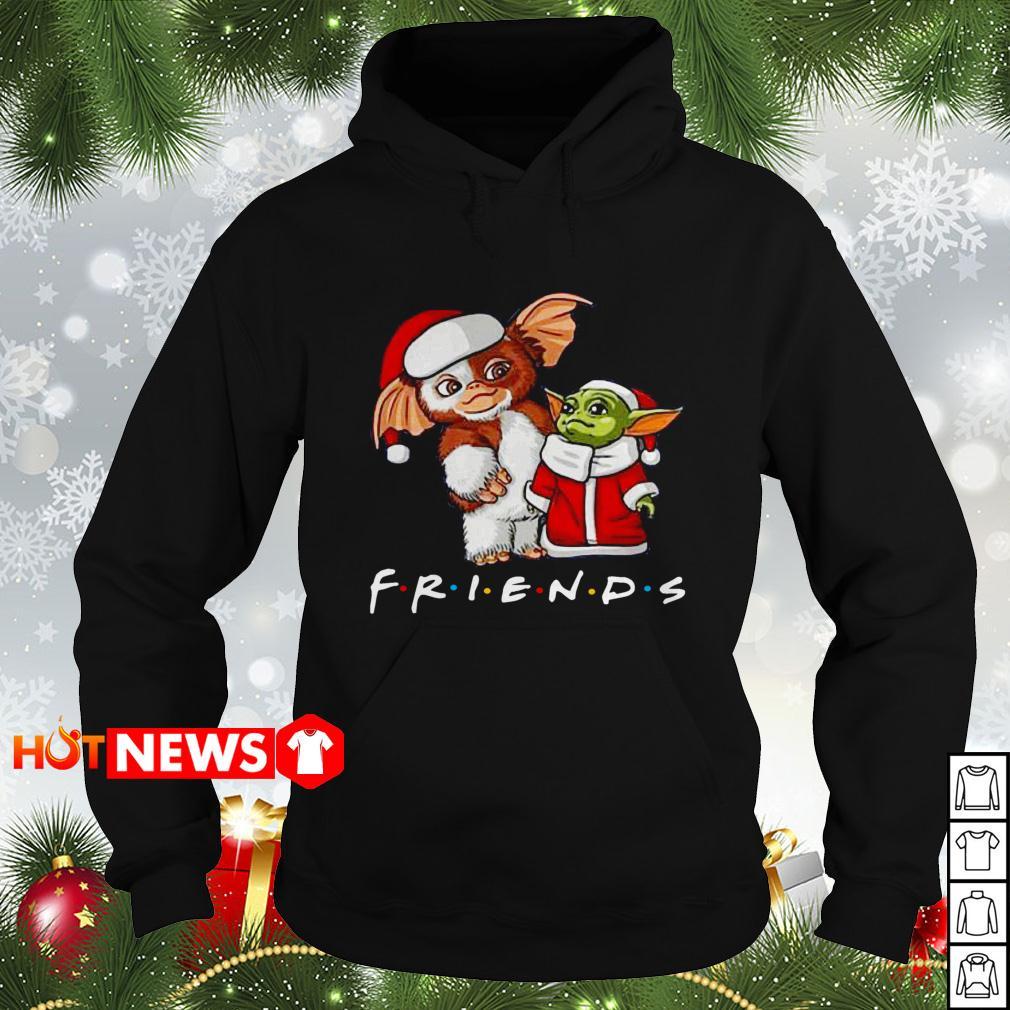Baby Yoda and Gizmo Santa Friends TV show Christmas Hoodie