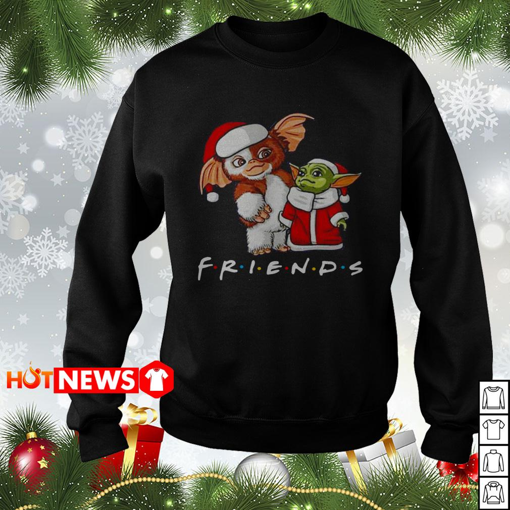 Baby Yoda and Gizmo Santa Friends TV show Christmas sweater