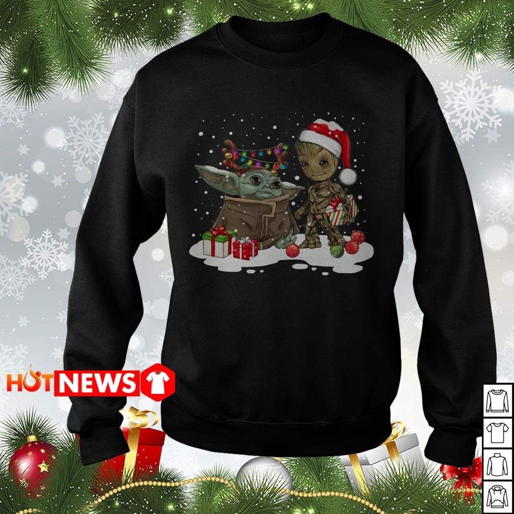 Baby Yoda and Groot Santa Christmas sweater