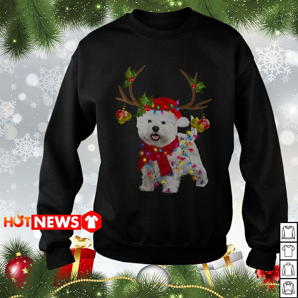 Bichon Frise Reindeer Christmas sweater