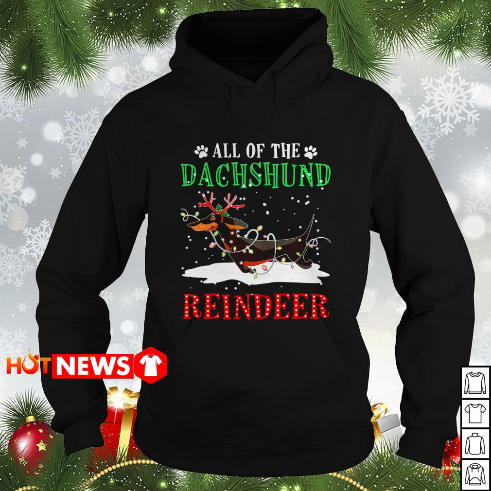 Christmas All of the Dachshund reindeer Hoodie