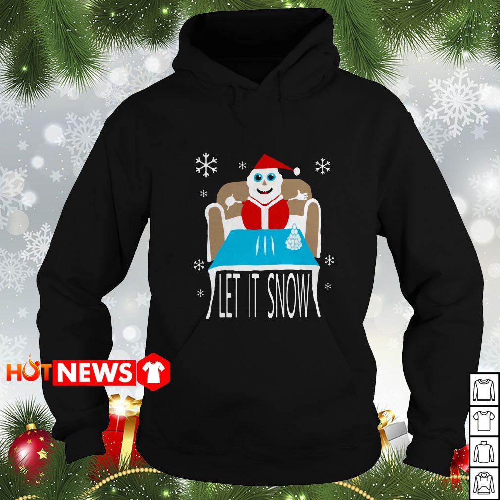 Cocaine Santa let it snow Christmas Hoodie