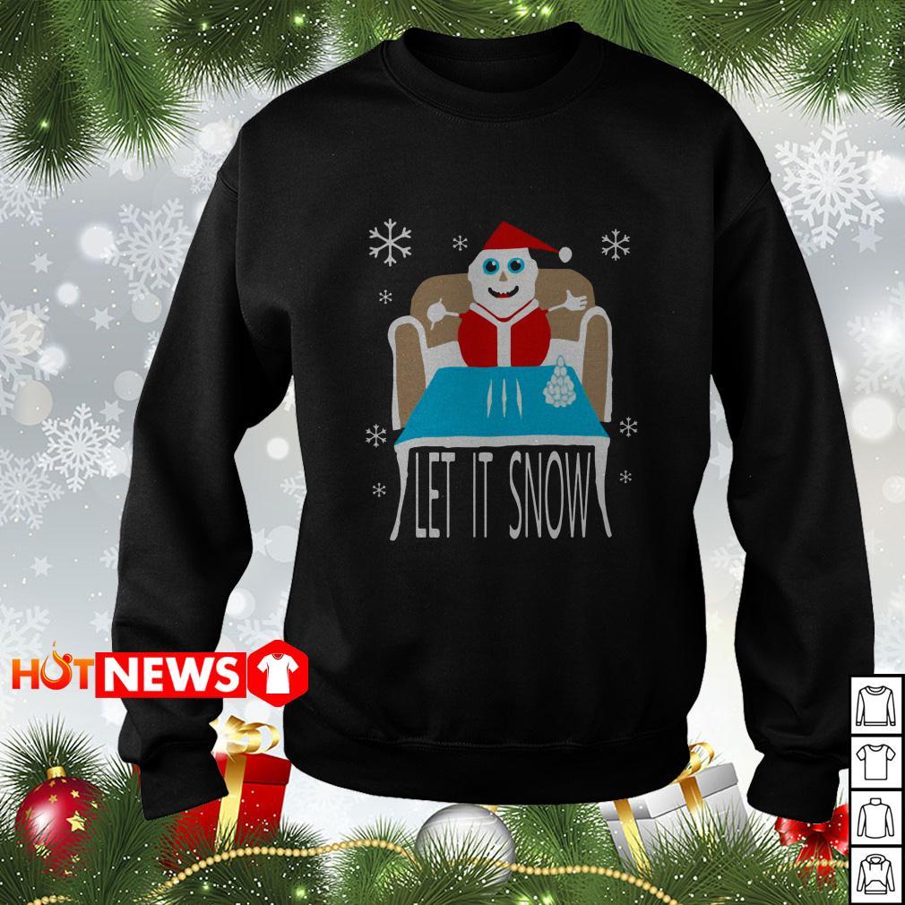 Cocaine Santa let it snow Christmas sweater