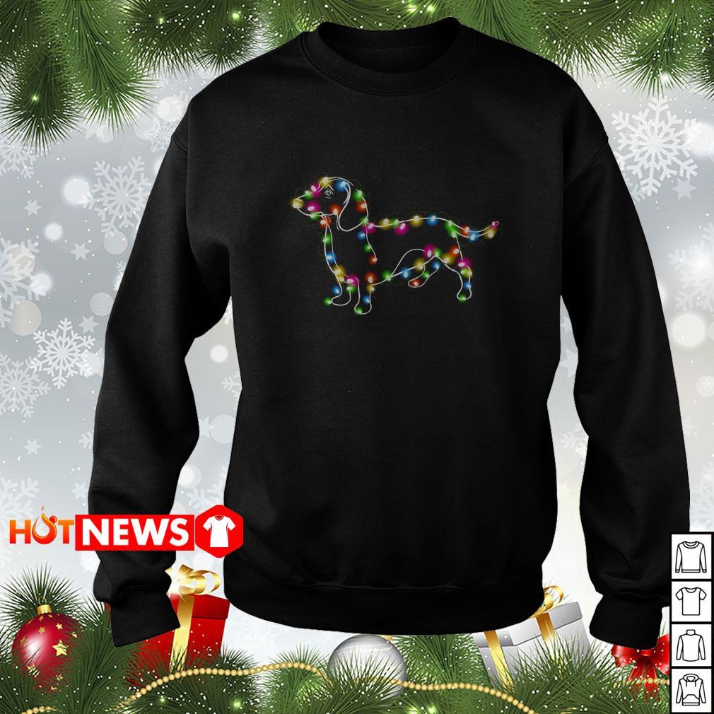 Dachshund Christmas light sweater