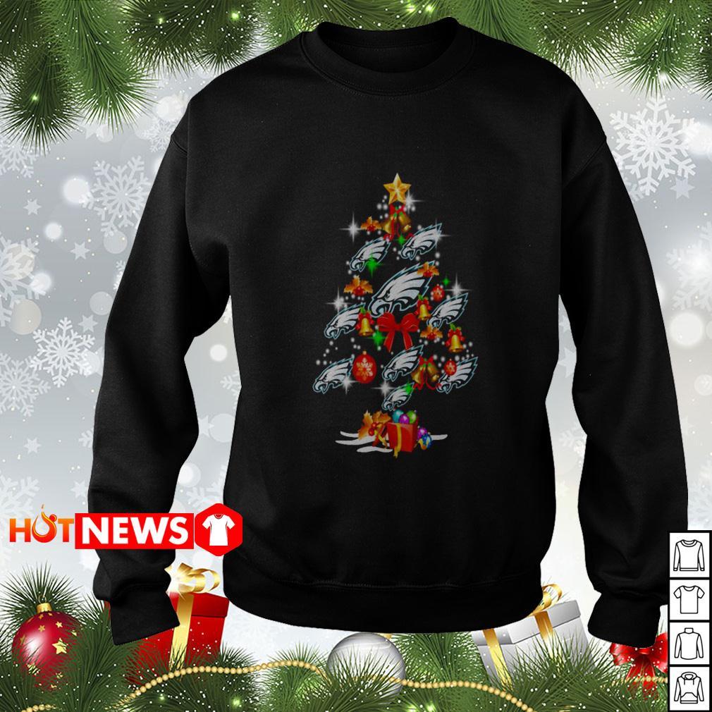 Philadelphia Eagles Christmas tree sweater