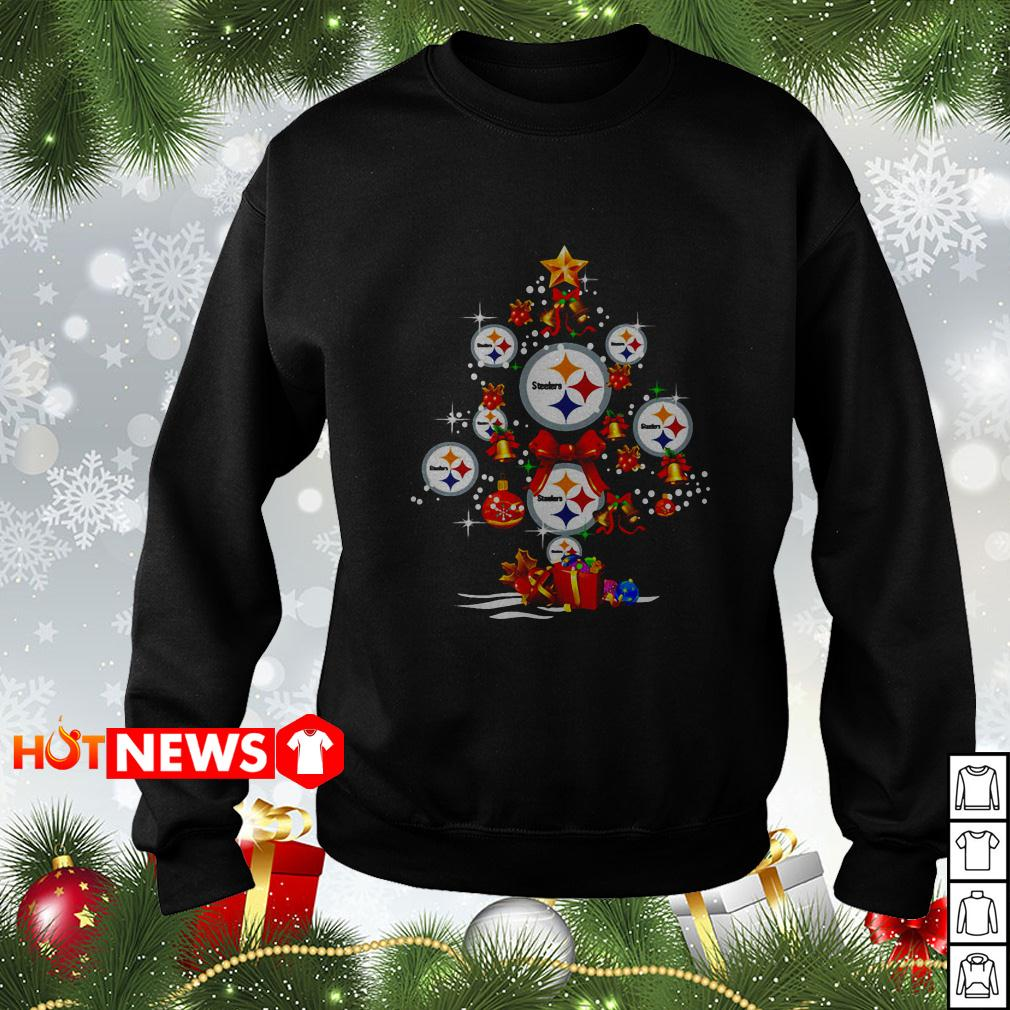 Pittsburgh Steelers Christmas tree sweater